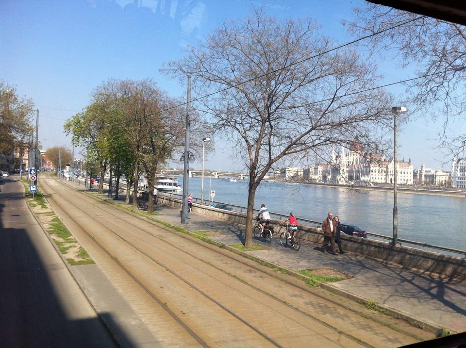 View of the Parliament Building from across the Danube