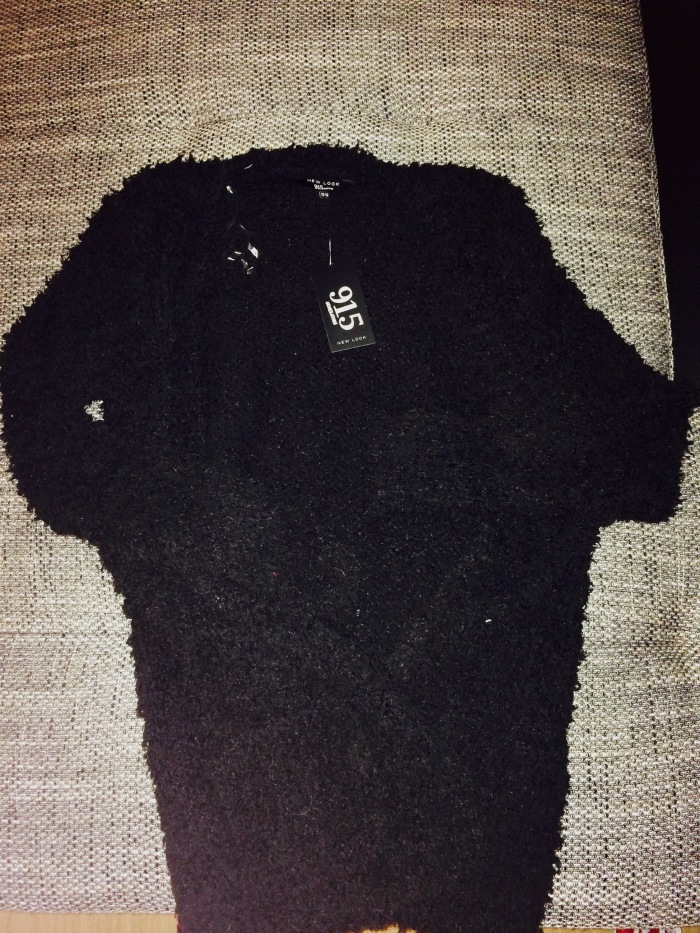 Black fluffy cardigan - New Look kids section - €8