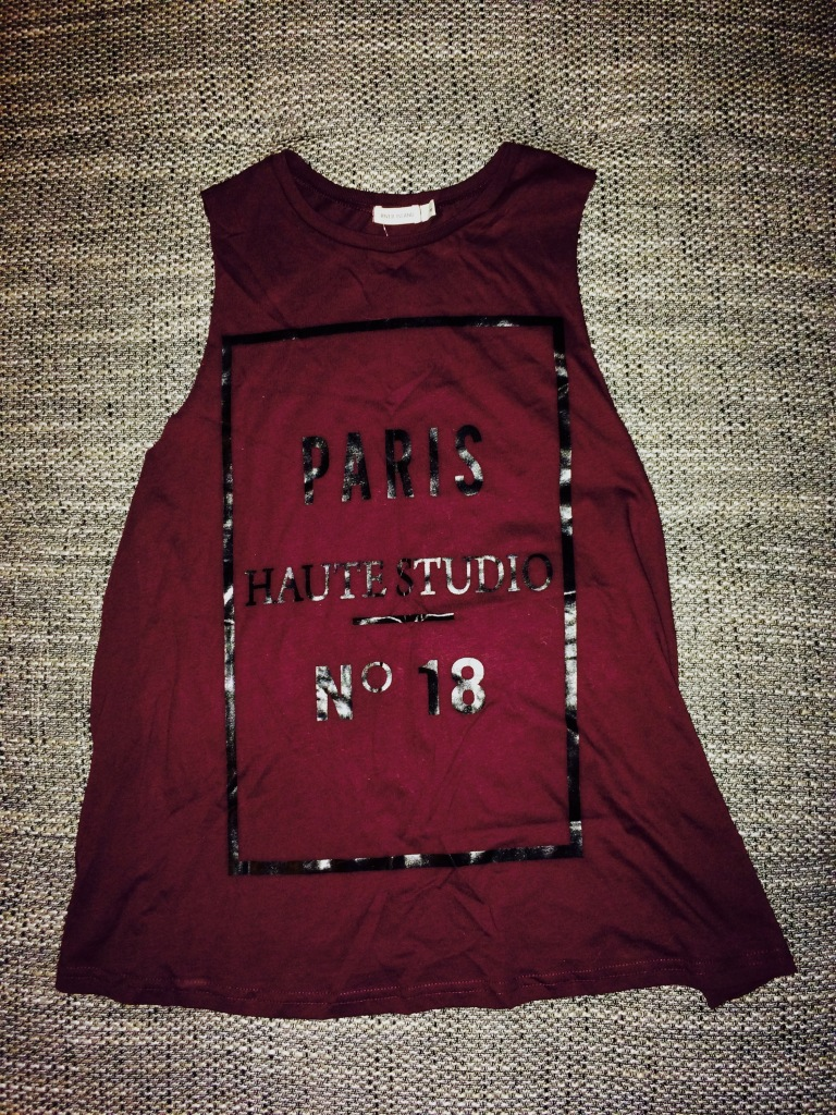 Burgandy top - River Island - €8