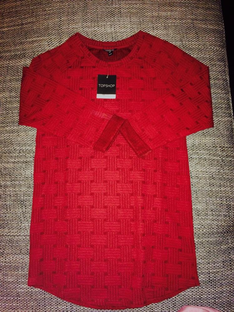 Deep red long jumper - Topshop - €20