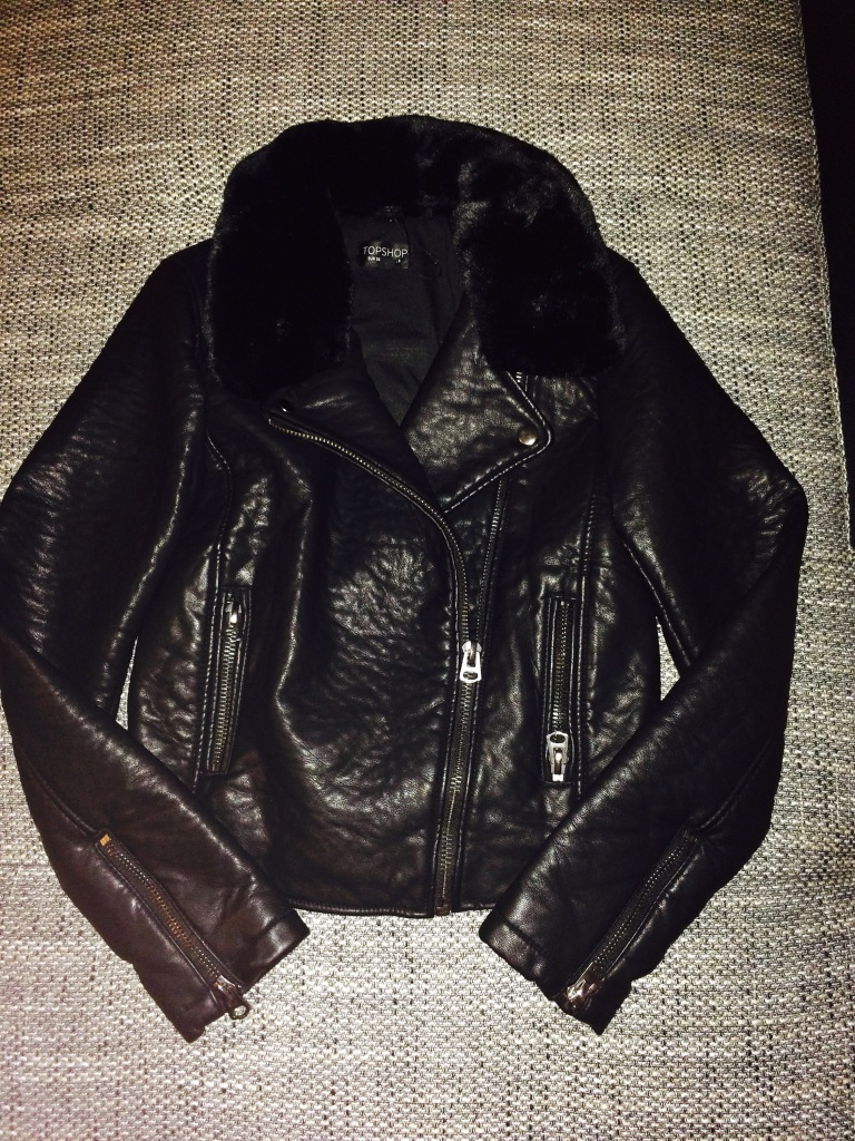 Black faux leather jacket - Topshop - €59 - still available online