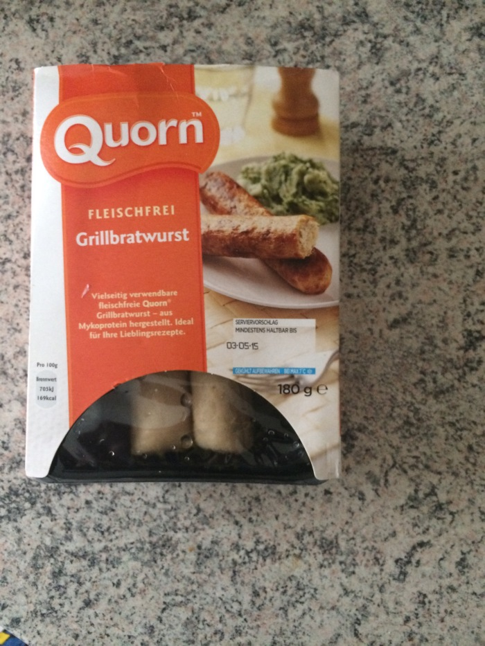 Quorn sausages.