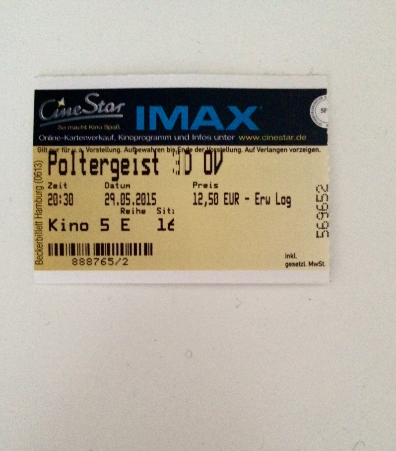 Poltergeist cinema ticket
