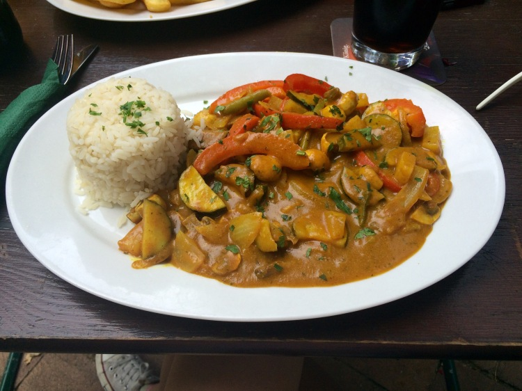 The 'Lir style' vegetarian curry.