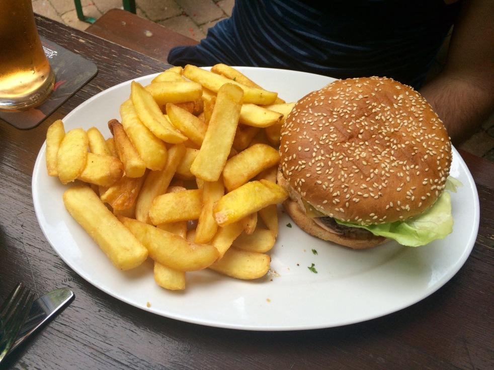 Burger at The Lir, Berlin.