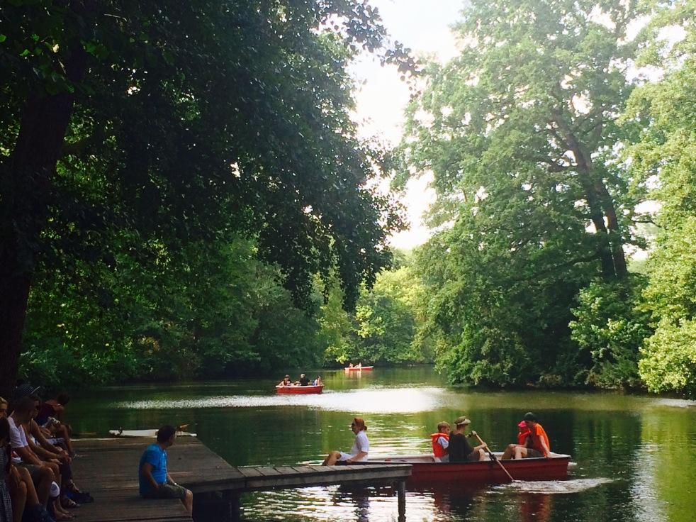 Rowing in Tiergarten