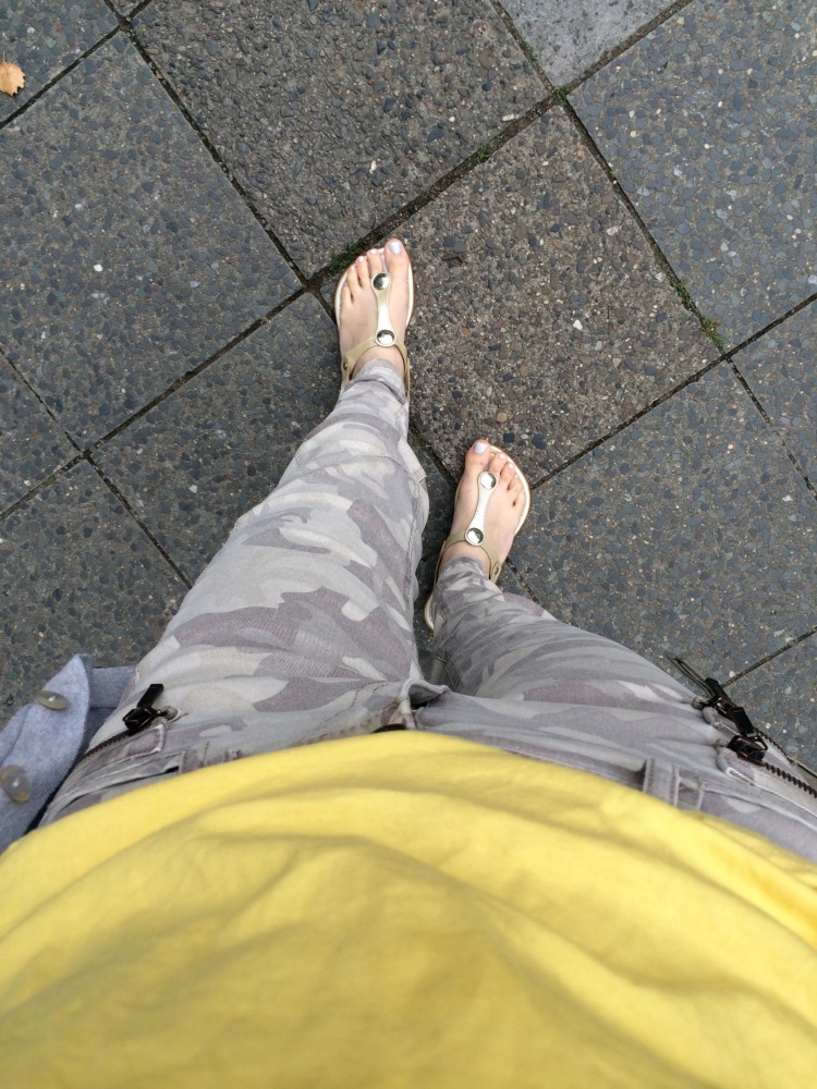 Trousers from River Island, top from Berskha, sandals from Asos, cardigan from Penneys/Primark