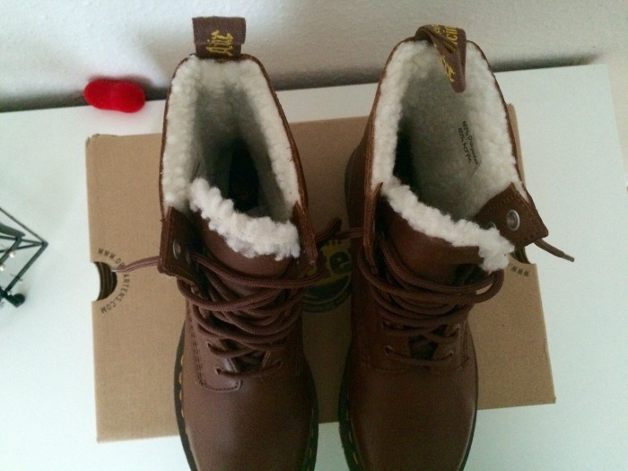 Dr. Martens 8 Eyelet Tan Boots