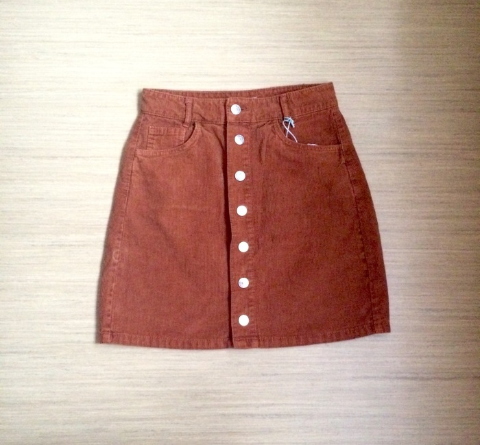 Orange Cord Skirt - €15.99