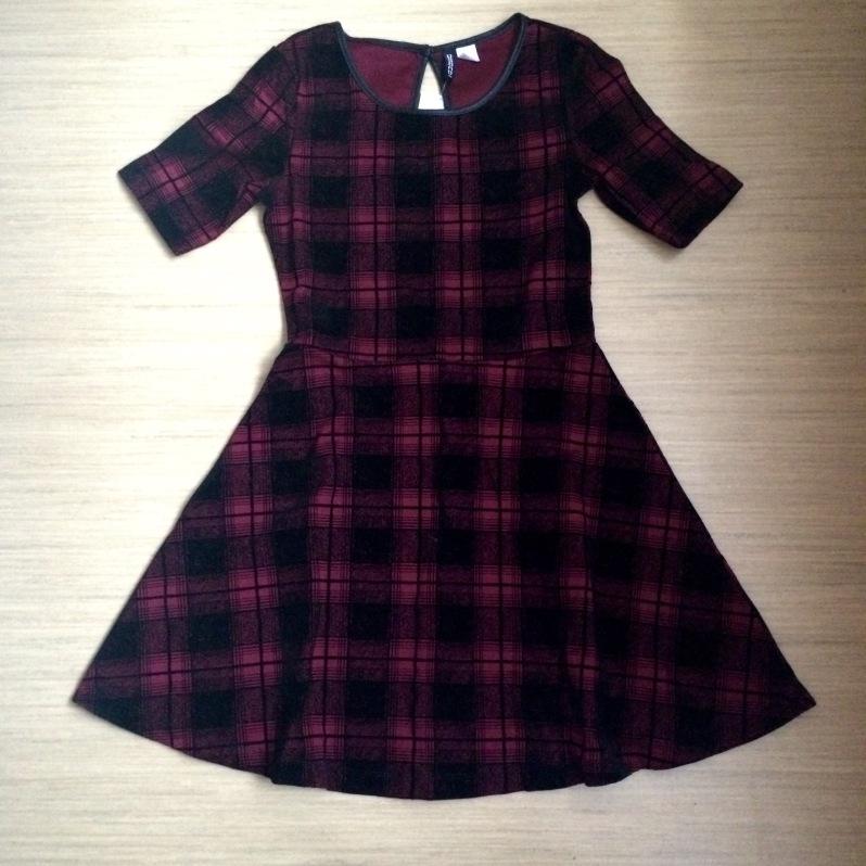Check Skater Dress - €20