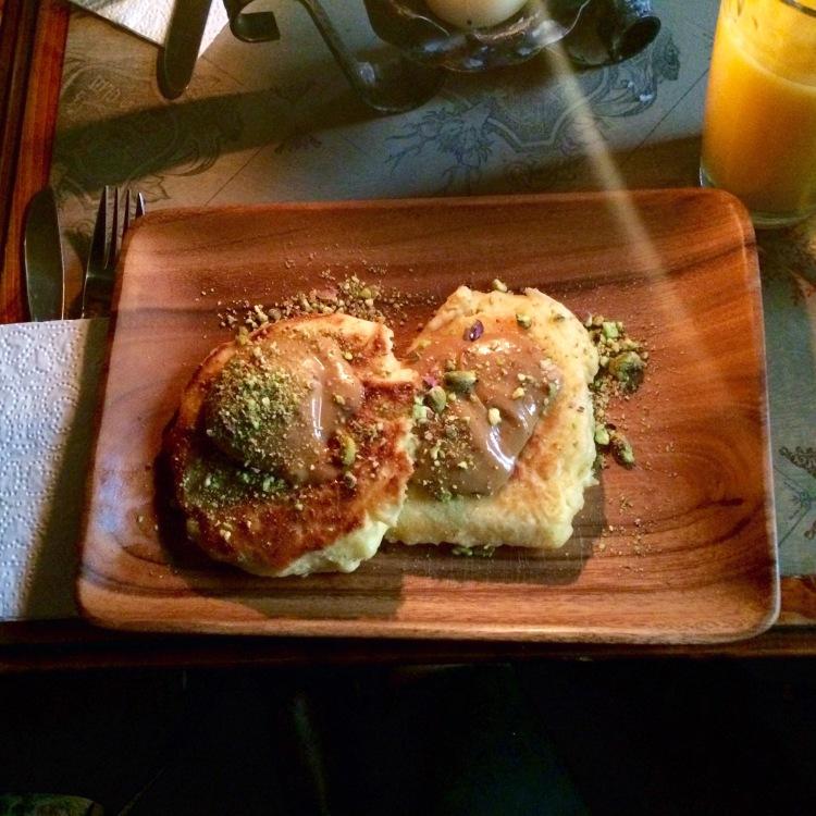 Buttermilk pancakes from Geist in Glas