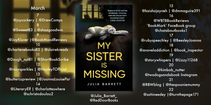 My Sister Is Missing Blog Tour